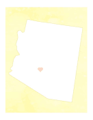 Cute Arizona Map