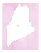 Cute Maine Map