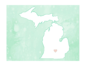 Cute Michigan Map