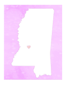 Cute Mississippi Map