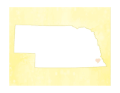 Cute Nebraska Map