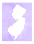 Cute New Jersey Map
