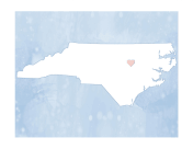 Cute North Carolina Map