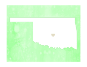 Cute Oklahoma Map