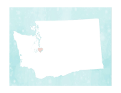 Cute Washington Map